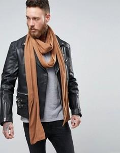 Длинный шарф табачного цвета ASOS - Рыжий