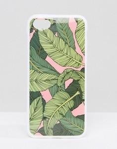 Чехол для iPhone 7 с принтом банановых листьев Signature - Зеленый