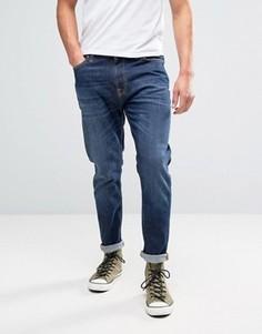 Синие выбеленные джинсы Nudie Jeans Co Brute Knut - Синий