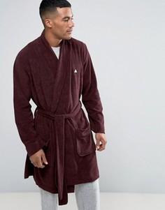 Махровый халат с логотипом ASOS - Красный
