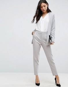 Приталенные брюки ASOS Premium - Серый