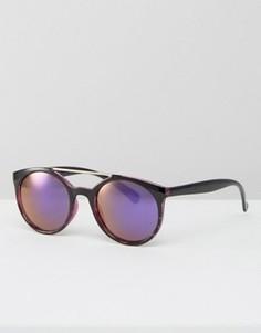 Круглые солнцезащитные очки с голубыми стеклами Jeepers Peepers - Фиолетовый