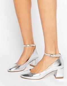 Туфли металлик на среднем каблуке Miss KG Caleb - Серебряный