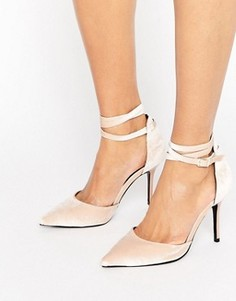 Туфли-лодочки с ремешком вокруг щиколотки ShoeLab - Бежевый