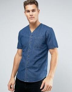 Рубашка с бейсбольным воротником Another Influence - Синий