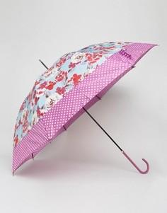 Зонт с цветочным принтом Totes - Розовый