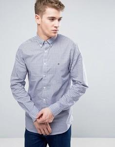 Рубашка классического кроя в клетку с воротником на пуговицах Tommy Hilfiger - Синий