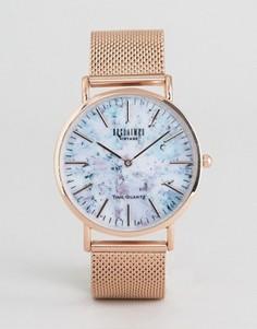 Часы с мраморным принтом и золотисто-розовым сетчатым ремешком Reclaimed Vintage - Золотой
