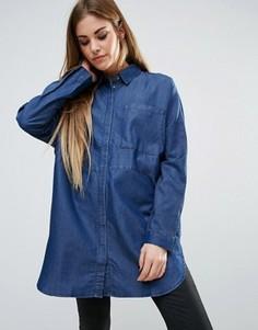 Длинная рубашка Minimum - Синий