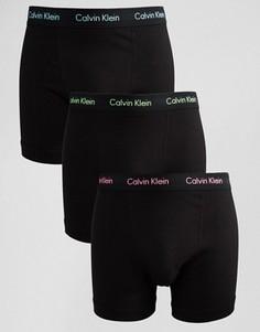 Набор из 3 хлопковых стретчевых боксеров‑брифов Calvin Klein - Черный
