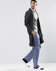 Тканые штаны для дома классического кроя Calvin Klein - Синий