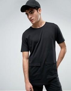 Длинная футболка с карманами Bellfield - Черный