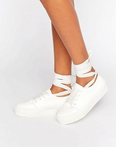 Кроссовки с ленточками ASOS DENVER - Белый