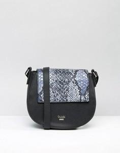 Черная сумка со сменным откидным клапаном Nali - Черный