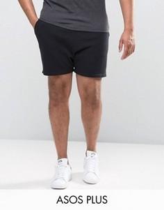 Черные шорты ASOS PLUS Runner - Черный