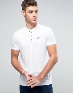 Белая футболка хенли узкого кроя Hollister Core - Белый