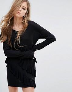 Платье-джемпер с оборками Religion - Черный