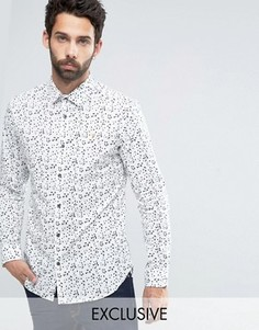 Строгая рубашка слим Farah Truman - Белый