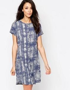 Платье-рубашка с принтом JDY - Синий