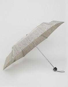Миниатюрный зонт с леопардовым принтом Totes - Бежевый