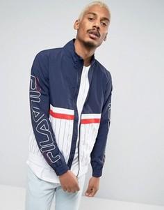 Куртка с принтом на карманах Fila Black Shell - Темно-синий