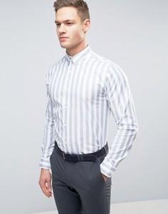 Узкая рубашка в полоску Selected Homme - Белый