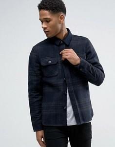 Клетчатая рубашка-куртка Celio - Темно-синий