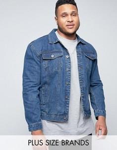 Синяя винтажная джинсовая куртка Duke PLUS - Синий