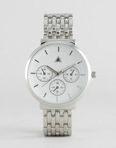 Часы бойфренда с большим циферблатом ASOS - Серебряный