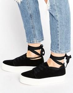Кроссовки с ленточками ASOS DENVER - Черный