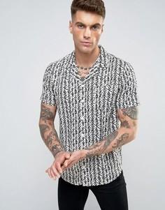 Рубашка с принтом Another Influence - Бежевый