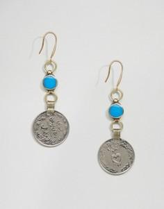 Серьги с монетами Rock N Rose Hana - Серебряный