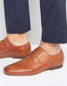 Кожаные туфли на шнуровке Zign - Рыжий