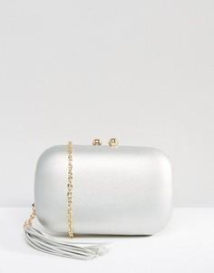 Серебристый клатч с кисточкой Chi Chi London - Серебряный