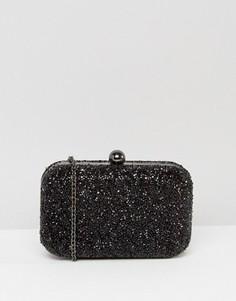 Черный клатч с бисерной отделкой Chi Chi London - Черный