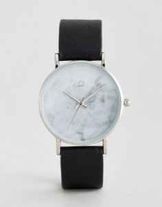 Часы с мраморным принтом на циферблате ASOS - Черный
