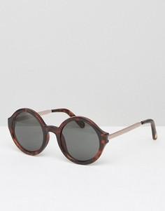 Круглые солнцезащитные очки Seafolly - Коричневый