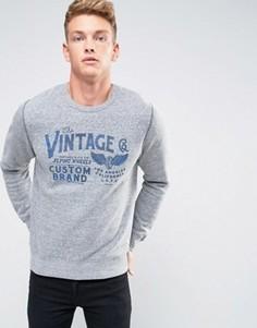 Свитшот с винтажным принтом Jack & Jones Vintage - Серый