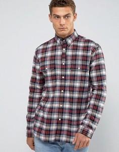 Черная фланелевая рубашка с принтом тартан Jack Wills Salcombe - Черный