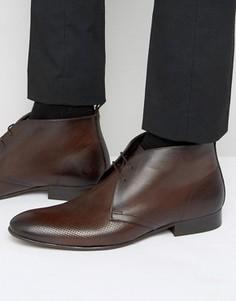 Кожаные ботинки чукка Base London Trader - Коричневый
