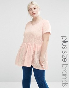 Блузка с выжженным эффектом Lovedrobe Plus - Розовый