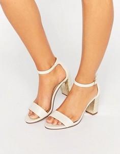 Босоножки на каблуке Miss KG - Белый