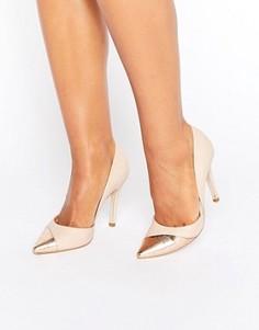 Туфли-лодочки с контрастной отделкой Miss KG Caitlyn - Бежевый