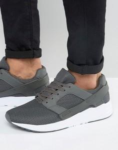 Серые кроссовки с резиновыми вставками ASOS - Серый