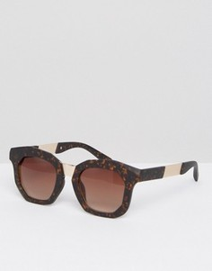 Массивные солнцезащитные очки в стиле ретро AJ Morgan - Коричневый