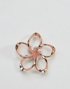 Брошь в виде цветка с кристаллами Ted Baker Belvas - Золотой