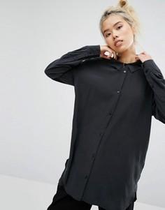 Рубашка из ткани купро Weekday - Черный