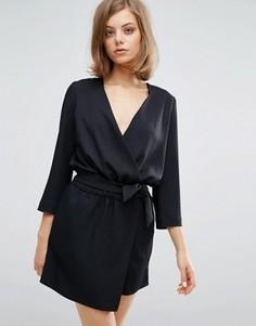 Платье с запахом и завязкой Vanessa Bruno Athe - Синий