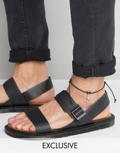 Браслет на ногу с подвеской-луной Reclaimed Vintage - Черный