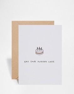 Поздравительная открытка на день рождения Ohh Deer Eat Your Cake - Мульти